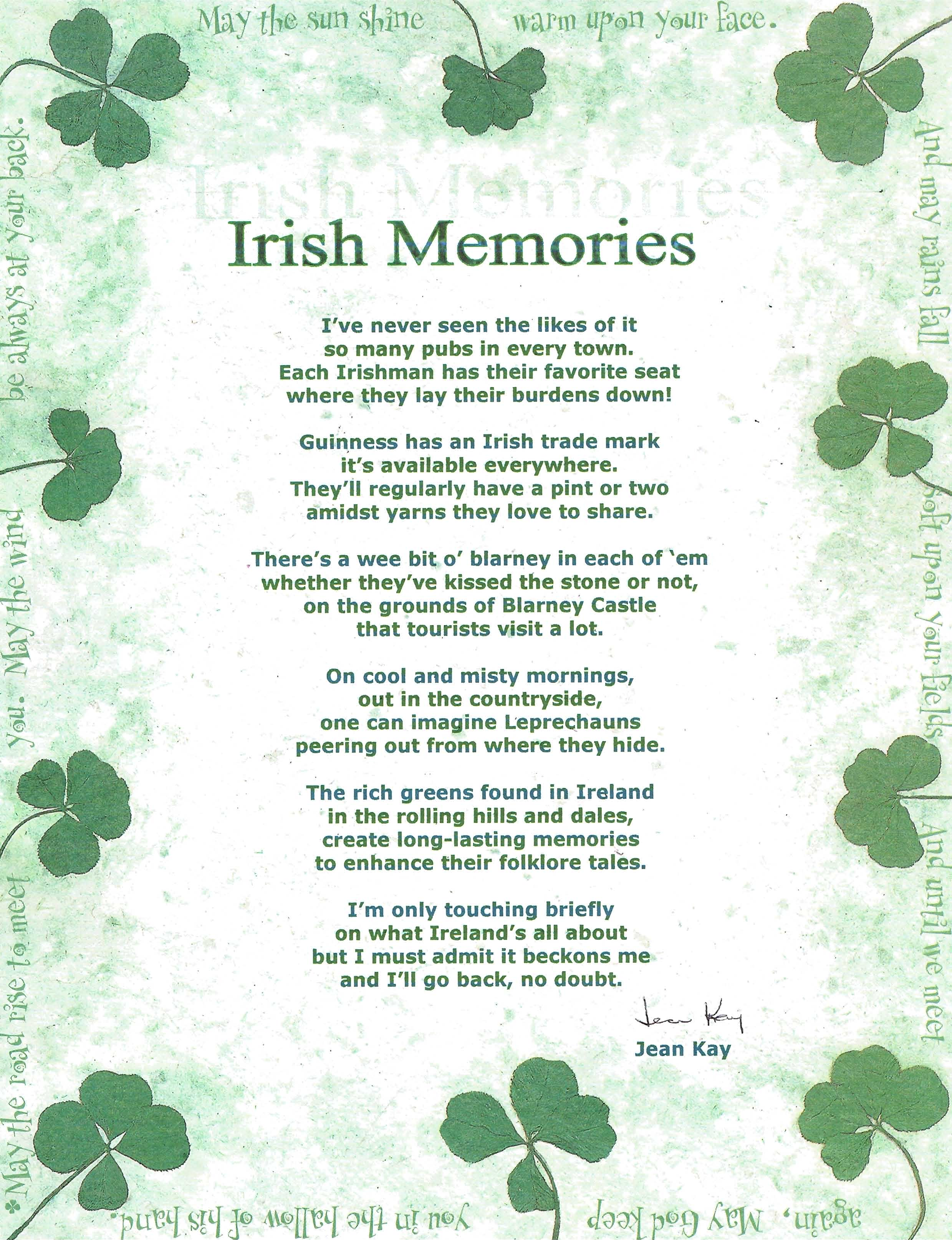 Irish Memories