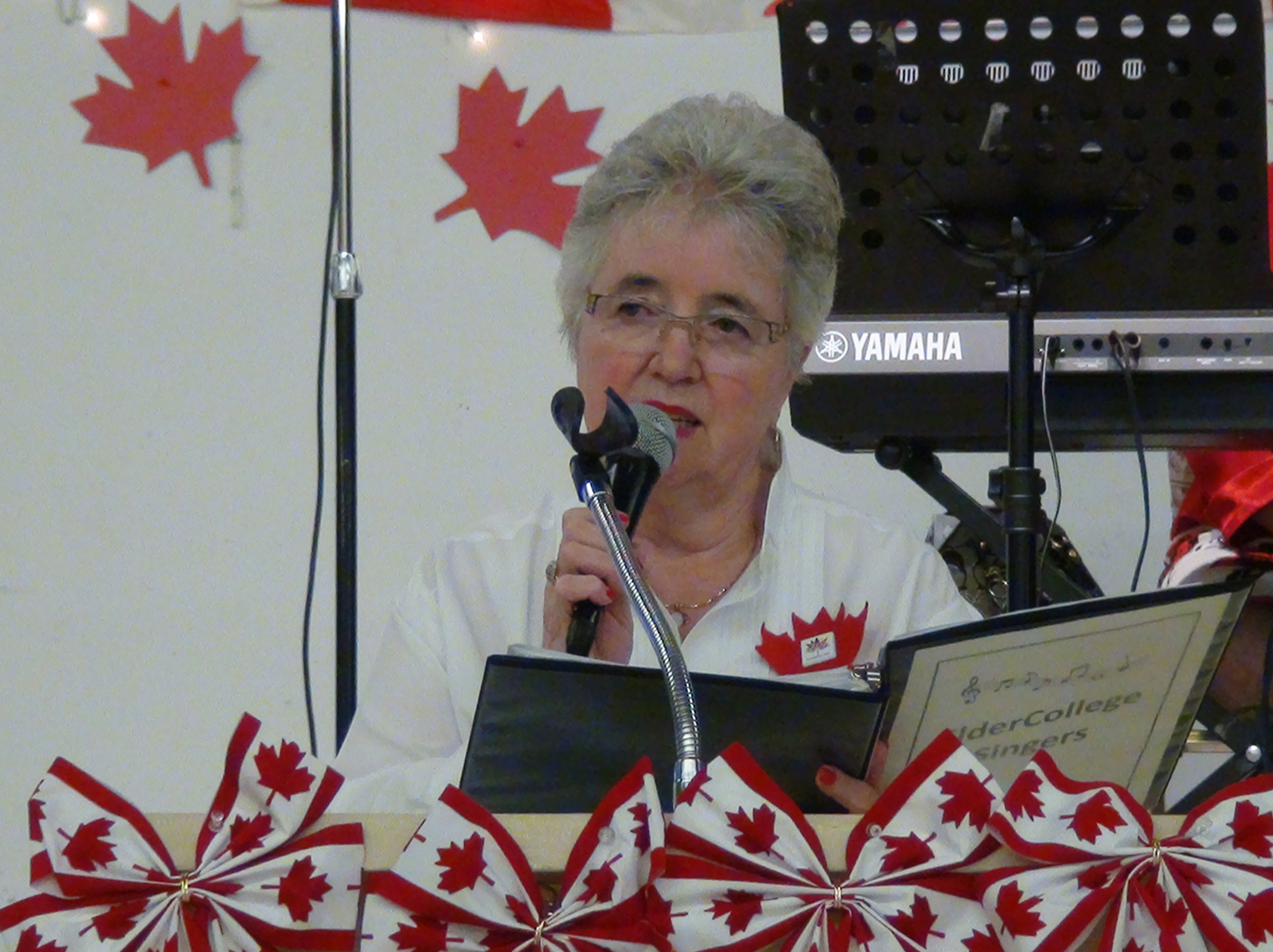 Jean reciting Canada, Our Canada